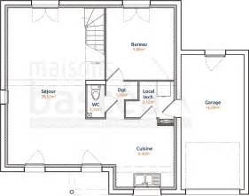 maison cubique toit plat plan rdc bastea
