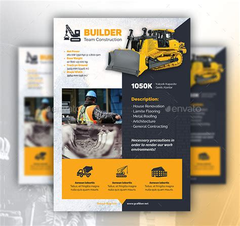 27 construction flyer templates free premium download