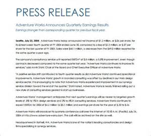 Press Release Template Pdf press release template 29 free word excel pdf format