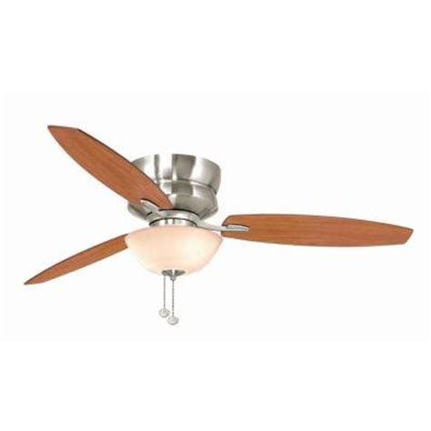 hton bay rapallo 52 in brushed nickel ceiling fan