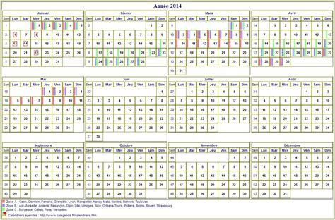 Calendrier Annuel 2014 Calendrier 2014 Annuel 224 Imprimer Avec Les Vacances