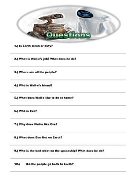 wall e movie questions by nicole duhr teachers pay teachers wall e worksheet stinksnthings