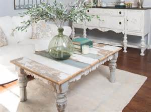 shabby chic coffee table with drawers
