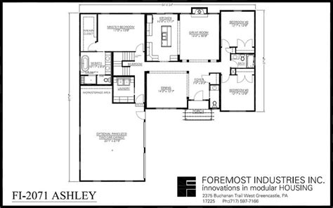 foremost homes floor plans the new fi 2071 ashley model home brought to you by