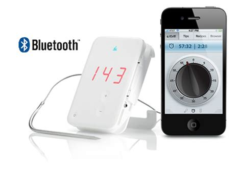 Termometer Uap igrill bluetooth grilling cooking thermometer and app for iphone and the green