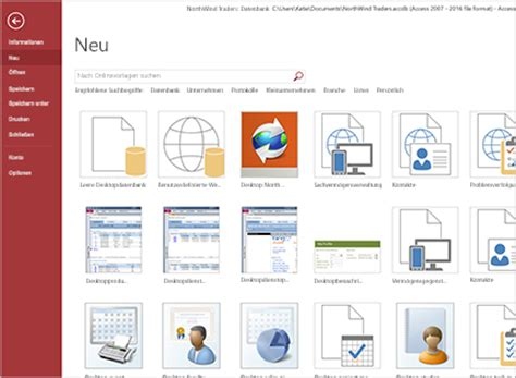 Access Design Vorlagen Datenbankmanagementsystem Microsoft Access