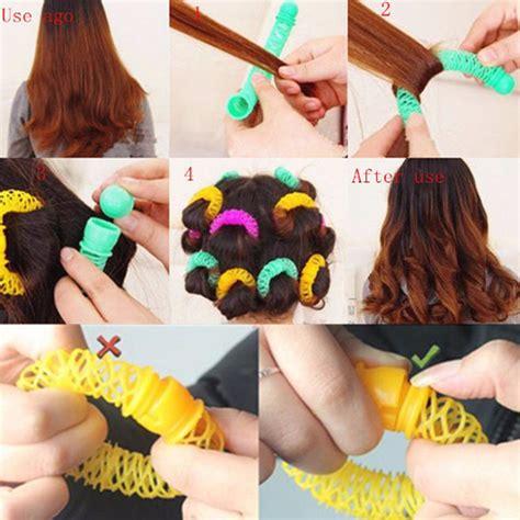 roller pengeriting rambut model spiral 8pcs multi color