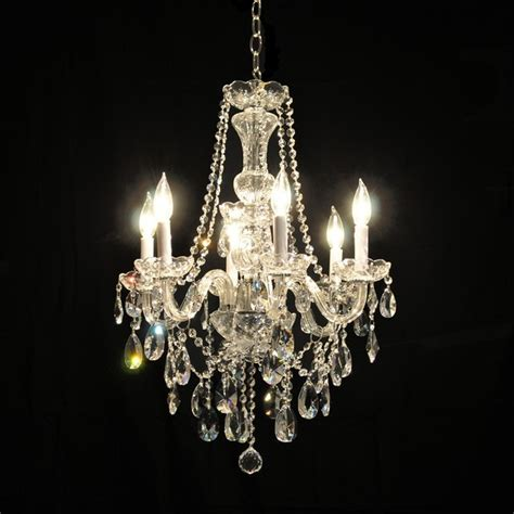 Victorian Glass Arm Swarovski Crystal Chandelier In Chrome Glass Arm Chandelier