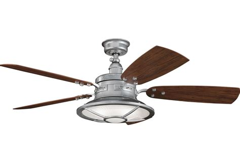 Replacement Outdoor Ceiling Fan Blades by Kichler 310102gst Galvanized Steel 44 Quot Outdoor Ceiling Fan With Blades Light Kit Downrod And