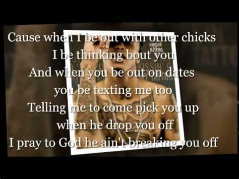 kissin on my tattoos august alsina lyrics on my august alsina lyrics on screen