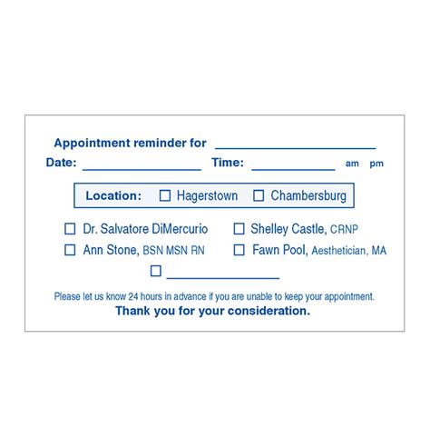 dental appointment card template free d cosmetic raised ink appointment card printing