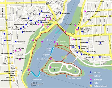 america map niagara falls niagara falls fallsview hotel map