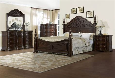 elegant master bedroom sets the via massara elegant master bedroom set dark finish