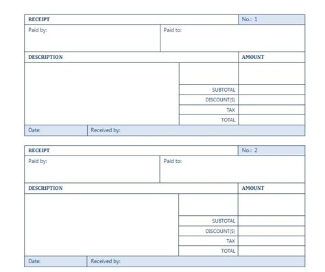 excel templates for receipt rental receipt template rental receipt