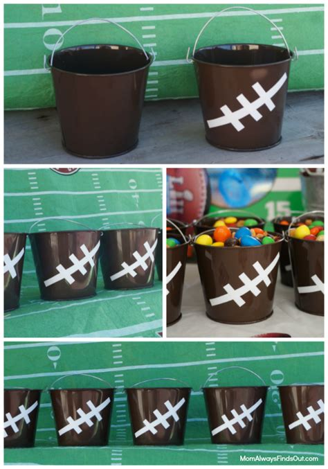 football craft projects football craft ideas how to make football pails