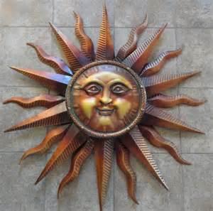 Metal Sun Wall Decor by Large Copper Patina Sun Wall Hanging Metal Decor