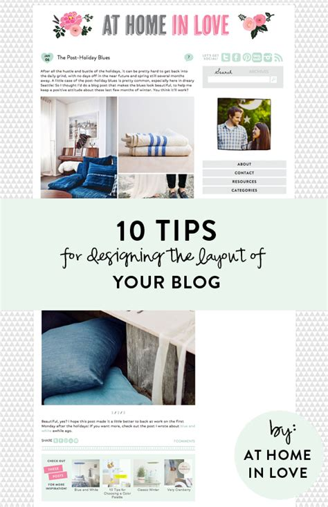 design tips 10 tips for designing a blog at home in love
