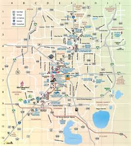 orlando tourist attractions map