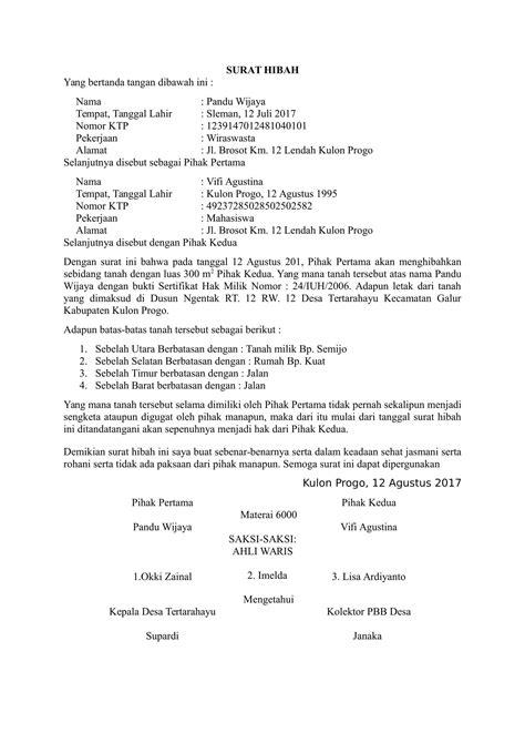 contoh format surat keterangan riwayat tanah contoh surat tanah pdf kotasurat com