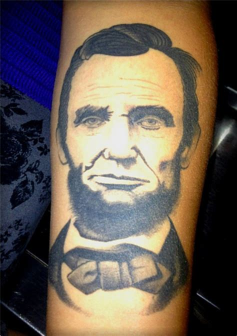 abraham lincoln tattoo abe lincoln ink