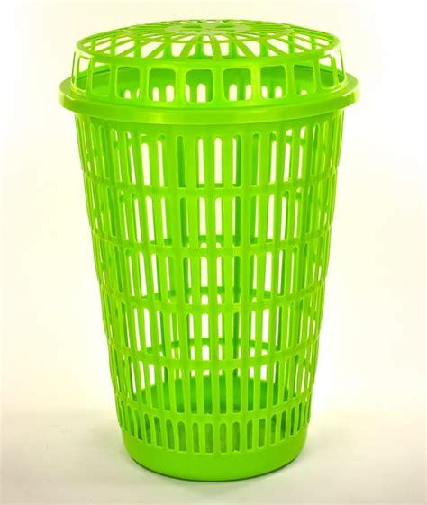 Circular Plastic Laundry Linen Basket Bin Storage Her Plastic Laundry With Lid