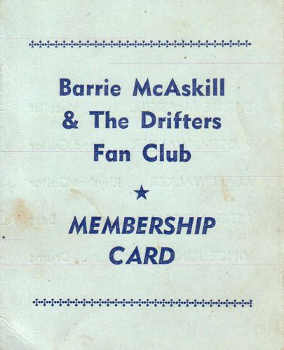 Tsukiuta Fan Club Card 10 drifters fan club card