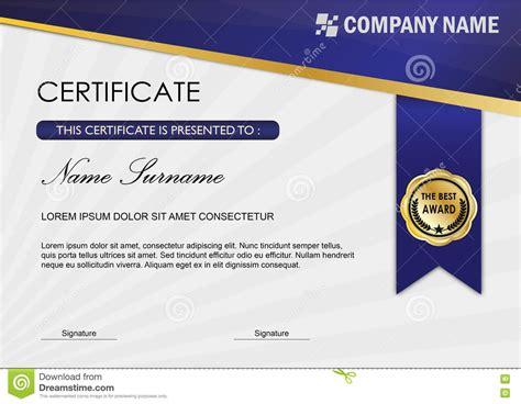 design graduation certificate modern certificate diploma award template blue dark