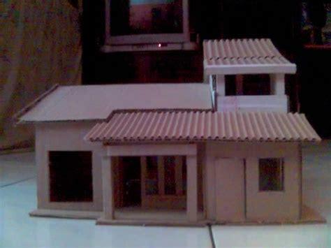 membuat hiasan rumah dari kardus membuat miniatur rumah dari kardus bli blogen