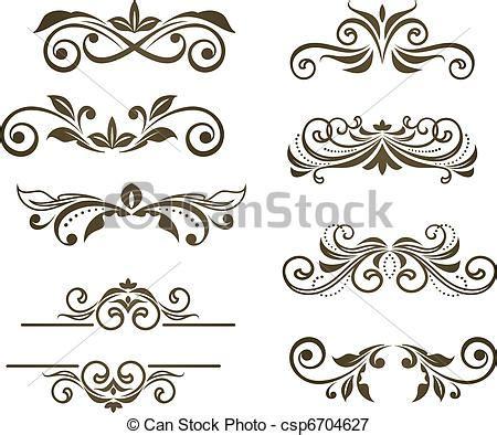 banco de imagenes royalty free vetor floral vindima arabescos estoque de ilustra 231 227 o