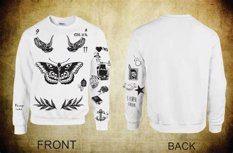 updated version crewneck sweatshirt harry styles tattoos