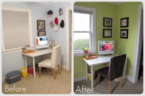 Computer Desk Makeover by Studio Makeover Archives The Borrowed Abode
