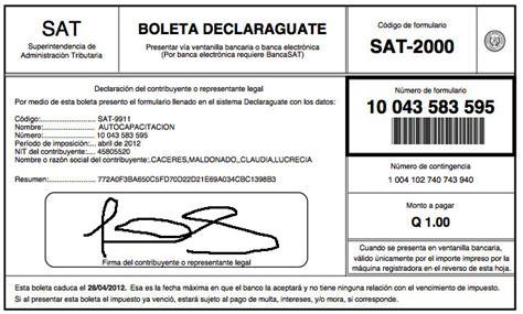 certificado de el pago de impuesto 2016 comprobante de pago de boleta sat 2000