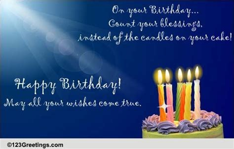 Count Your Birthday Blessings! Free Birthday Blessings