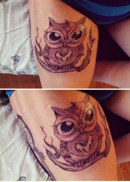 small thigh tattoos tumblr pin small owl tattoos on