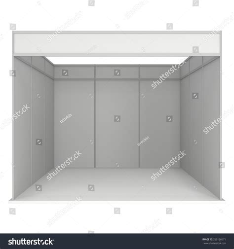 3d booth design template trade show booth white blank blank stock illustration