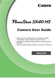 canon powershot sx40 hs (camera) manuals