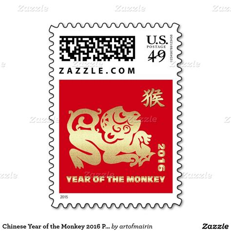 new year envelope monkey 2016 year of the monkey postage sts
