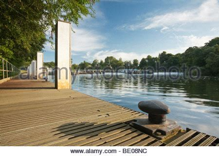 thames lock and weir at reading mapledurham house stock photo royalty free image