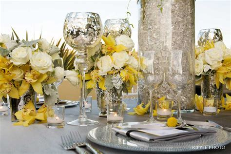 grey wedding centerpieces gray and yellow wedding centerpieces wedding decorations