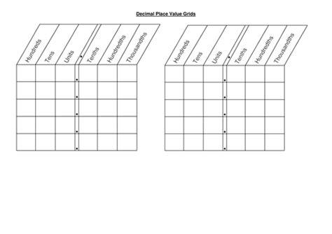 Decimal Place Value Worksheets Ks2