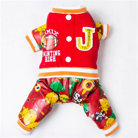 limited rappers with puppies winter clothes hip hop style stitching cotton clothes for dogs clothing pet