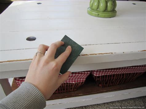 How To Paint White Distressed Furniture by Distressing Painted Furniture Proverbs 31