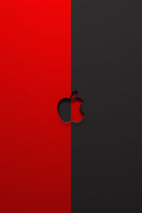 apple wallpaper red and black red apple logo wallpaper wallpaper wide hd