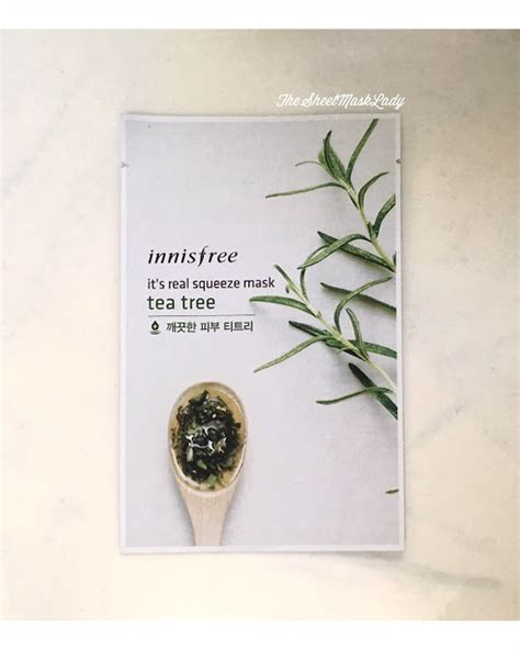 It S Real Squeeze Mask Green Tea 1sheet 20ml Masker Murah innisfree it s real squeeze mask tea tree the sheet mask