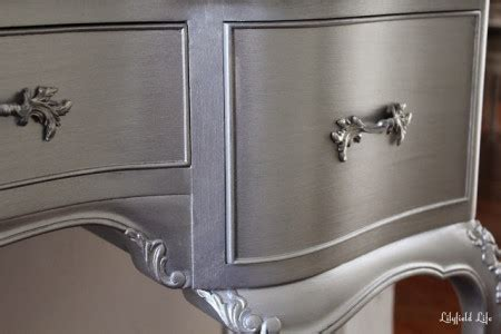 Silver Metallic Paint For Wood Furniture by How To Paint Furniture Metallic Silver Paint