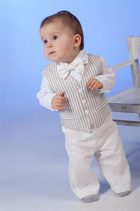 baby boy wedding attire baby boy linen suit ring bearer baptism