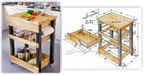kitchen cart plans woodarchivist