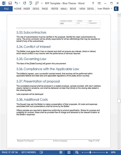 it service desk software rfp template