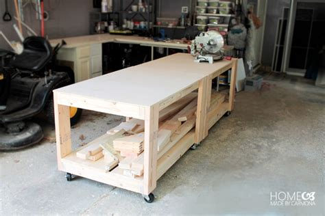 how to build a shop bench how to build an easy super sturdy workbench home made by carmona
