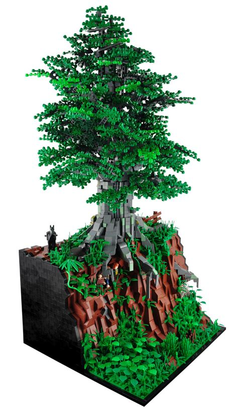 tree lego moc lego beautiful trees miniplayhouse